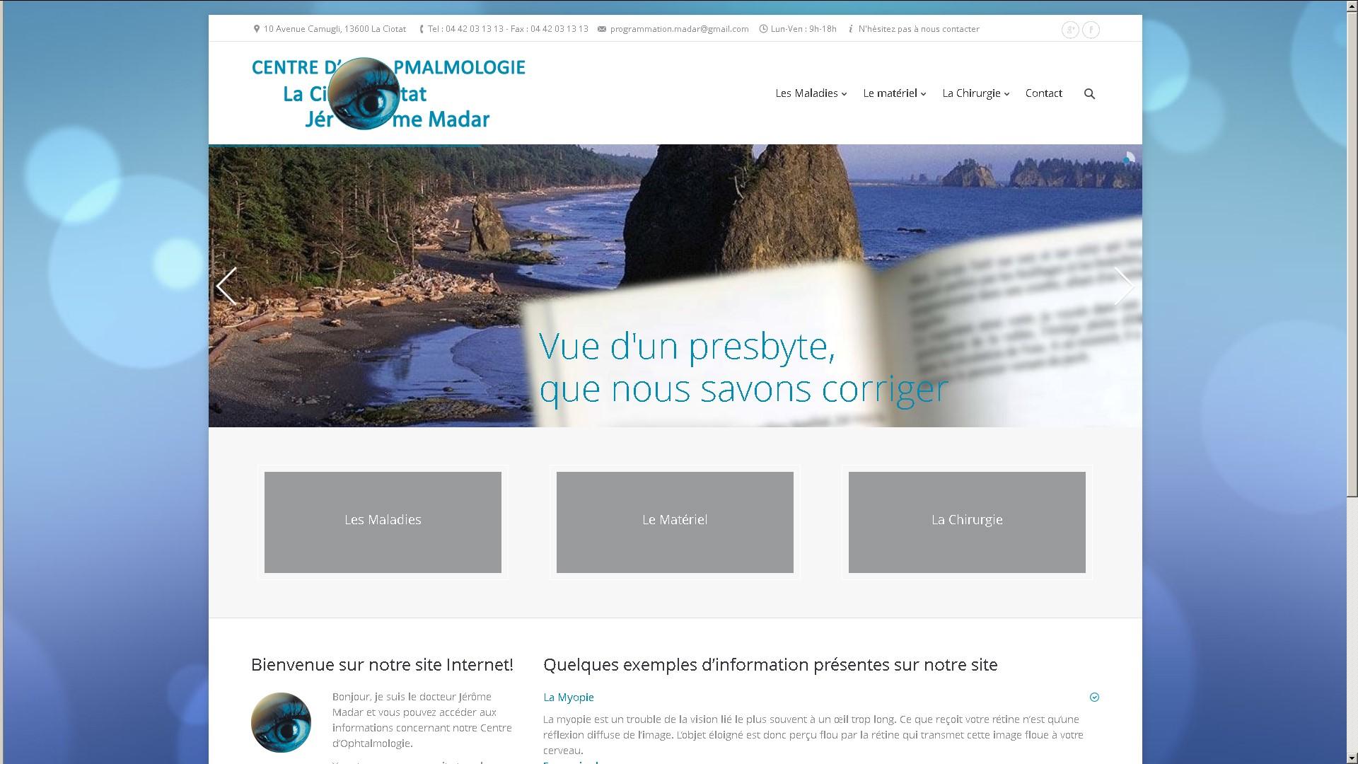 creation-site-internet-marseille-cabinet-ophtalmologie-laciotat-docteur-jerome-madar